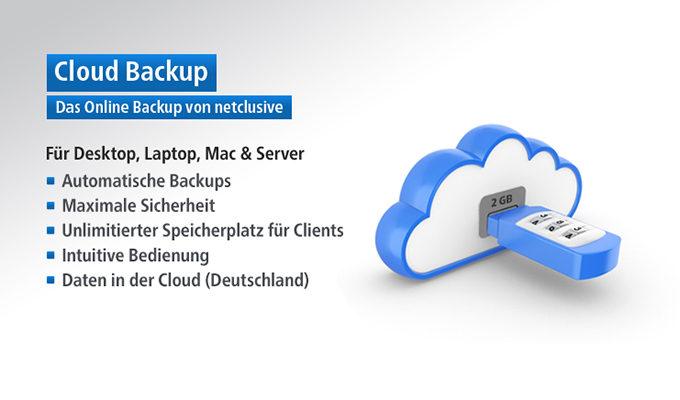 Mit dem Cloud Backup befreien Sie sich von Datenverlusten.