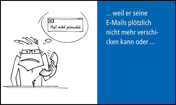 Kunde kann keine E-Mails mehr verschicken